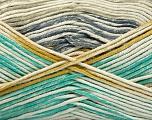 Fiber Content 50% Acrylic, 50% Cotton, Light Grey, Light Blue, Khaki, Brand Ice Yarns, Gold, Cream, Yarn Thickness 2 Fine  Sport, Baby, fnt2-52918