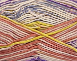 Fiber Content 50% Acrylic, 50% Cotton, Yellow, Salmon, Lilac, Brand Ice Yarns, Cream, Yarn Thickness 2 Fine  Sport, Baby, fnt2-52920