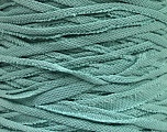 Make handbags,rugs,basket and cushion covers with this genius new-fashion yarn!<p>Since the yarn is made by upcycling fabrics, and because of the nature of the yarn; take the following notes into consideration. </p><ul><li>Width vary between 0,8 cm and 1,2 cm</li><li>Fiber content information may vary. Information given about fiber content is approximate. </li><li>The yardage and weight information of the yarn is approximate. </li></ul> Fiber Content 95% Cotton, 5% Elastan, Mint Green, Brand Ice Yarns, Yarn Thickness 6 SuperBulky  Bulky, Roving, fnt2-52927