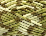 Contenido de fibra 100% Micro fibra, Brand Ice Yarns, Green Shades, Cream, Yarn Thickness 4 Medium  Worsted, Afghan, Aran, fnt2-53112