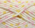 Contenido de fibra 100% Micro fibra, Yellow, White, Pink, Brand Ice Yarns, Yarn Thickness 4 Medium  Worsted, Afghan, Aran, fnt2-53121