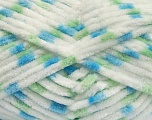 Contenido de fibra 100% Micro fibra, White, Brand Ice Yarns, Green, Blue, Yarn Thickness 4 Medium  Worsted, Afghan, Aran, fnt2-53122