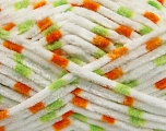Contenido de fibra 100% Micro fibra, White, Orange, Brand Ice Yarns, Green, Yarn Thickness 4 Medium  Worsted, Afghan, Aran, fnt2-53131