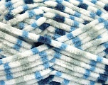Contenido de fibra 100% Micro fibra, White, Brand Ice Yarns, Grey, Blue Shades, Yarn Thickness 4 Medium  Worsted, Afghan, Aran, fnt2-53132