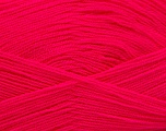 Very thin yarn. It is spinned as two threads. So you will knit as two threads. Yardage information is for only one strand. Fiber Content 100% Acrylic, Neon Pink, Brand Ice Yarns, fnt2-53166