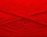 Very thin yarn. It is spinned as two threads. So you will knit as two threads. Yardage information is for only one strand. Fiber Content 100% Acrylic, Red, Brand Ice Yarns, fnt2-53167