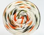 Fiber Content 80% Acrylic, 20% Polyamide, White, Orange, Brand Ice Yarns, Green Shades, fnt2-53200