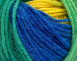 Fiber Content 100% Acrylic, Yellow, Brand Ice Yarns, Green, Blue, fnt2-53340