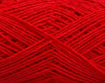 Fiber Content 65% Cotton, 35% Polyamide, Red, Brand Ice Yarns, fnt2-53443