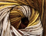 Fiber Content 100% Acrylic, Yellow, Khaki, Brand ICE, Brown Shades, Yarn Thickness 4 Medium  Worsted, Afghan, Aran, fnt2-53532