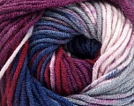 Fiber Content 100% Acrylic, Purple, Brand ICE, Burgundy, Blue Shades, Yarn Thickness 4 Medium  Worsted, Afghan, Aran, fnt2-53534