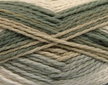 Fiber Content 70% Acrylic, 30% Wool, Khaki, Brand Ice Yarns, Grey, Cream, Beige, fnt2-53552