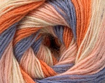 Kuitupitoisuus 60% Akryyli, 20% Villa, 20% Angoravilla, Orange, Lilac, Light Pink, Brand Ice Yarns, Cream, fnt2-53558