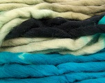 Fiber Content 100% Superwash Wool, Turquoise, Brand Ice Yarns, Grey, Black, fnt2-53566