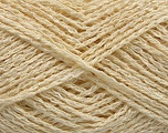 Fiber Content 70% Cotton, 5% Paillette, 25% Polyamide, Brand Ice Yarns, Cream, fnt2-53588