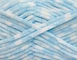 Fiberinnehåll 100% mikrofiber, White, Brand Ice Yarns, Baby Blue, fnt2-53693