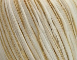 Fiber indhold 70% Polyamid, 30% Metallisk Lurex, White, Brand Ice Yarns, Gold, fnt2-53743