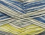 Fasergehalt 50% Acryl, 50% Baumwolle, Yellow, Brand Ice Yarns, Grey Shades, Cream, Blue, fnt2-53760