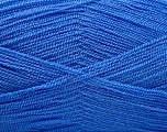 Very thin yarn. It is spinned as two threads. So you will knit as two threads. Yardage information is for only one strand. Fiber Content 100% Acrylic, Brand Ice Yarns, Blue, fnt2-53761
