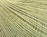 Fiber Content 50% Merino Wool, 25% Acrylic, 25% Alpaca, Light Green melange, Brand ICE, Yarn Thickness 2 Fine  Sport, Baby, fnt2-53812
