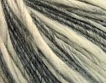 Fiber Content 60% Acrylic, 40% Wool, Brand ICE, Grey, Cream, Yarn Thickness 3 Light  DK, Light, Worsted, fnt2-53817