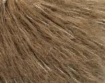 Fiber Content 4% Metallic Lurex, 35% Mohair, 32% Acrylic, 29% Polyamide, Silver, Brand Ice Yarns, Camel, fnt2-53821