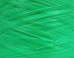 Lot consists of 3 cones of yarn with a total of 1000 gr (35.3 oz). Skein weight information given for each cone is average. Fiber Content 100% Polyamide, Brand Ice Yarns, Green, fnt2-53913