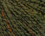 Vezelgehalte 53% Acryl, 35% Wol, 12% Polyamide, Brand Ice Yarns, Dark Green, fnt2-53934
