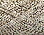 Fiber indhold 90% Akryl, 10% Metallisk Lurex, White, Brand Ice Yarns, Gold, fnt2-53994