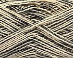 Fiber Content 90% Cotton, 10% Polyamide, Brand Ice Yarns, Cream, Black, fnt2-53998