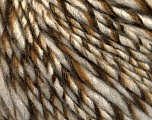 Fiber Content 90% Acrylic, 10% Wool, Brand Ice Yarns, Cream, Brown Shades, fnt2-54019
