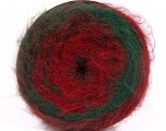 Vezelgehalte 63% Acryl, 37% Wol, Red, Brand Ice Yarns, Green, Burgundy, fnt2-54045