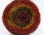 Fiber Content 63% Acrylic, 37% Wool, Maroon, Brand Ice Yarns, Green Shades, Copper, fnt2-54046