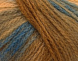 Fiber Content 44% Wool, 40% Acrylic, 16% Polyamide, Brand Ice Yarns, Brown Shades, Blue, fnt2-54061
