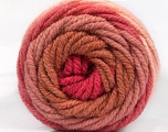 Fasergehalt 70% Acryl, 30% Wolle, Salmon, Rose Pink, Rose Brown, Pink, Brand Ice Yarns, fnt2-54070