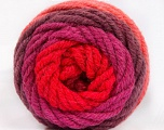Fiber indhold 70% Akryl, 30% Uld, Salmon, Red, Orchid, Maroon, Brand Ice Yarns, fnt2-54071