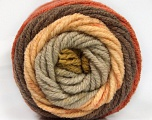 Fiber Content 70% Acrylic, 30% Wool, Olive Green, Brand Ice Yarns, Copper, Brown, Beige, fnt2-54073