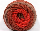 Kuitupitoisuus 70% Akryyli, 30% Villa, Red, Brand Ice Yarns, Copper, Brown Shades, fnt2-54074