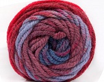 Fiber indhold 70% Akryl, 30% Uld, Red, Maroon, Lilac, Brand Ice Yarns, Blue, fnt2-54075