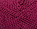 Please note that the yarn weight and the ball length may vary from one color to another for this yarn. Fiber Content 100% Cotton, Brand ICE, Dark Fuchsia, Yarn Thickness 3 Light  DK, Light, Worsted, fnt2-54133