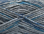 Kuitupitoisuus 80% Akryyli, 20% Polymidi, Brand Ice Yarns, Dark Grey, Blue, Anthracite Black, fnt2-54134