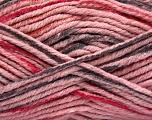Vezelgehalte 80% Acryl, 20% Polyamide, Pink, Brand Ice Yarns, Fuchsia, Dark Grey, fnt2-54135