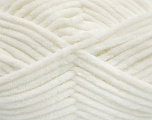 Fiber Content 100% Micro Fiber, White, Brand Ice Yarns, Yarn Thickness 4 Medium  Worsted, Afghan, Aran, fnt2-54138