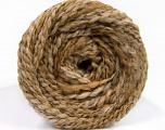 Vezelgehalte 38% Wol, 32% Acryl, 20% Alpaca, 10% Polyamide, Light Brown, Brand Ice Yarns, Cream, Beige, fnt2-54178