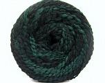 Fiberinnehåll 38% Ull, 32% Akryl, 20% Alpacka, 10% Polyamid, Brand Ice Yarns, Green, Black, fnt2-54180