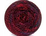 Fiberinnhold 38% Ull, 32% Akryl, 20% Alpakka, 10% polyamid, Red, Purple, Maroon, Brand Ice Yarns, Burgundy, Black, fnt2-54182
