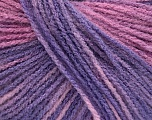 Fiber Content 100% Acrylic, Pink Shades, Lilac Shades, Brand Ice Yarns, fnt2-54229