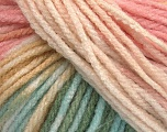 Fiber Content 100% Acrylic, Mint Green, Light Pink, Brand Ice Yarns, Cream, fnt2-54230