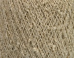 Fiber Content 9% Metallic Lurex, 35% Cotton, 31% Acrylic, 25% Polyamide, Brand Ice Yarns, Gold, Cream, fnt2-54241