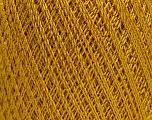 Ne: 10/3 Nm: 17/3 Fasergehalt 96% Merzerisation, 4% Metallic Lurex, Brand Ice Yarns, Gold, fnt2-54247